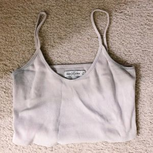 Abercrombie & fitch gray crop tank